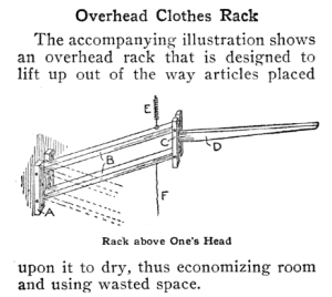 overhead clothes rack