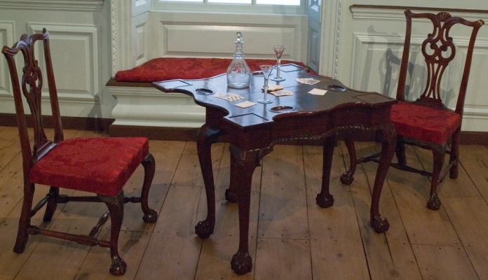 18th century American card table