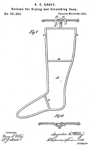 wire sock stretcher patent 19th century