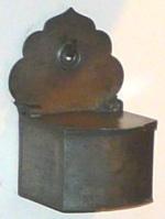 Polish salt box, hanging, wooden