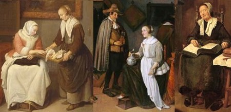 foot warmers, Dutch stoves, in van Brekelenkam paintings