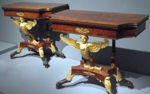 pair neo-classical card tables