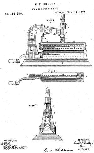 fluting machine patent drawings