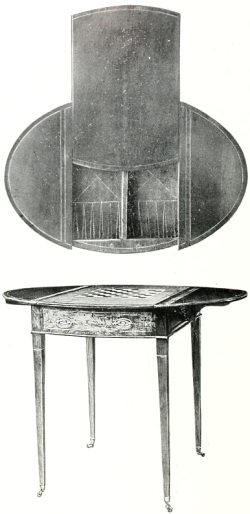 Georgian games table
