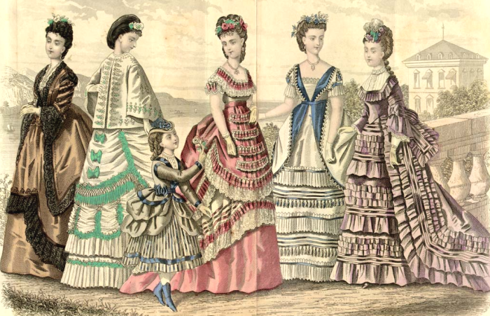 fluted frills and ruffles 1870