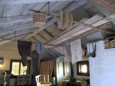 ceiling clothes drying in swedish peasant home