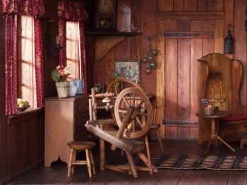1700s American kitchen