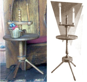 Candlestands colonial screw tripod table type