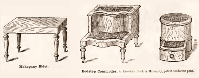 Bedstep commodes 1800s