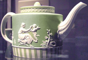 green jasperware teapot 1790