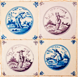 delft tiles late 1600s