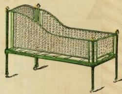 Baby crib 19th century