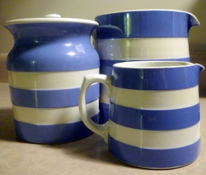 Cornish ware jar jugs