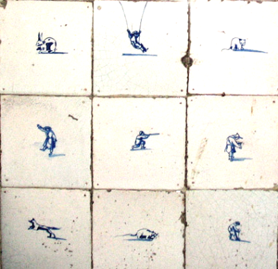 early delft tiles blue pictures