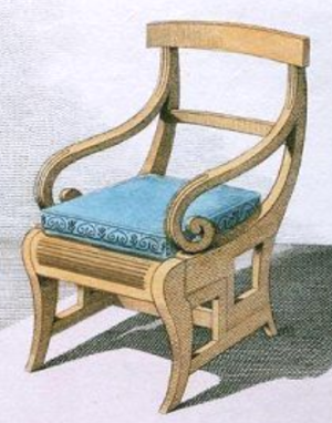 metamorphic library chair steps