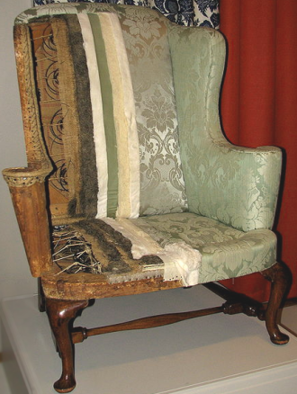 wing chair upholstery revealed