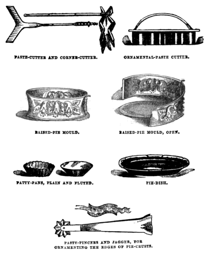 Victorian pastry making tools
